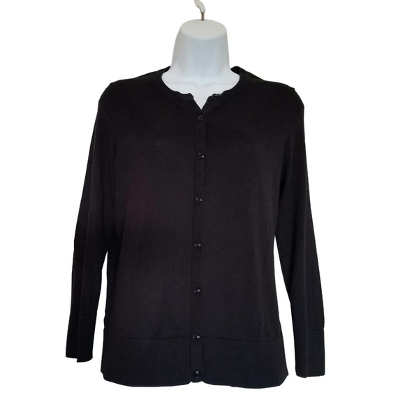 Ann Taylor Loft Sweaters - Ann Taylor Loft Black Button Up Sweater